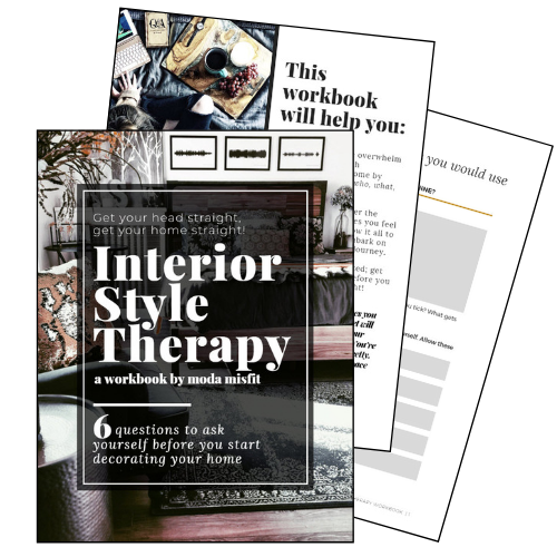 The Interior Style Therapy Workbook - Work through 6 important questions you should ask yourself in order to create a stylish oasis that feels like YOUTake control of the overwhelm that comes with decorating your home by tapping into your who, what, and why firstGet mentally organized and set yourself up for successful styling - get your head straight before you get your home straight!