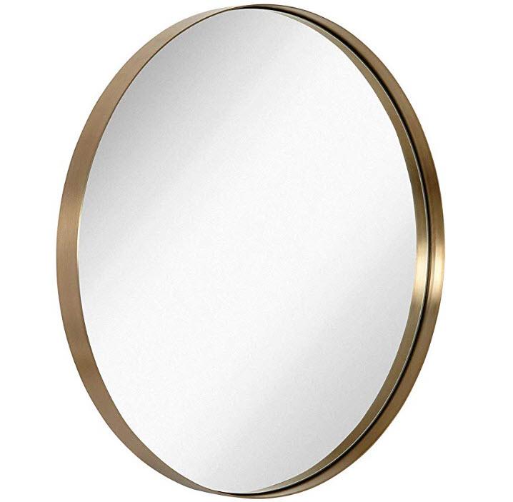 Amazon - Brushed Metal Gold Wall Mirror