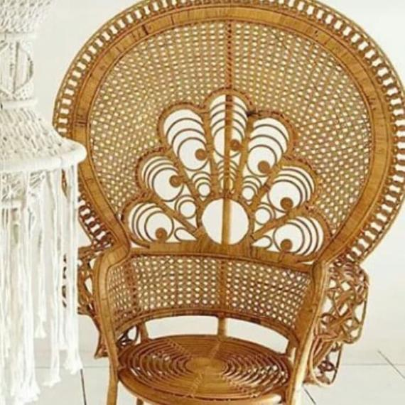 Etsy - Rattan Peacock Chair Natural