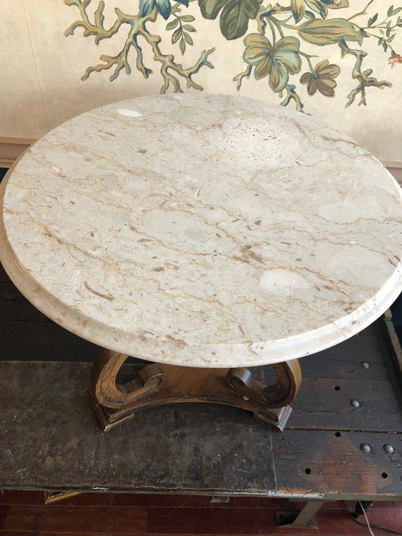 Etsy - Vintage Petit Marble-Top Table
