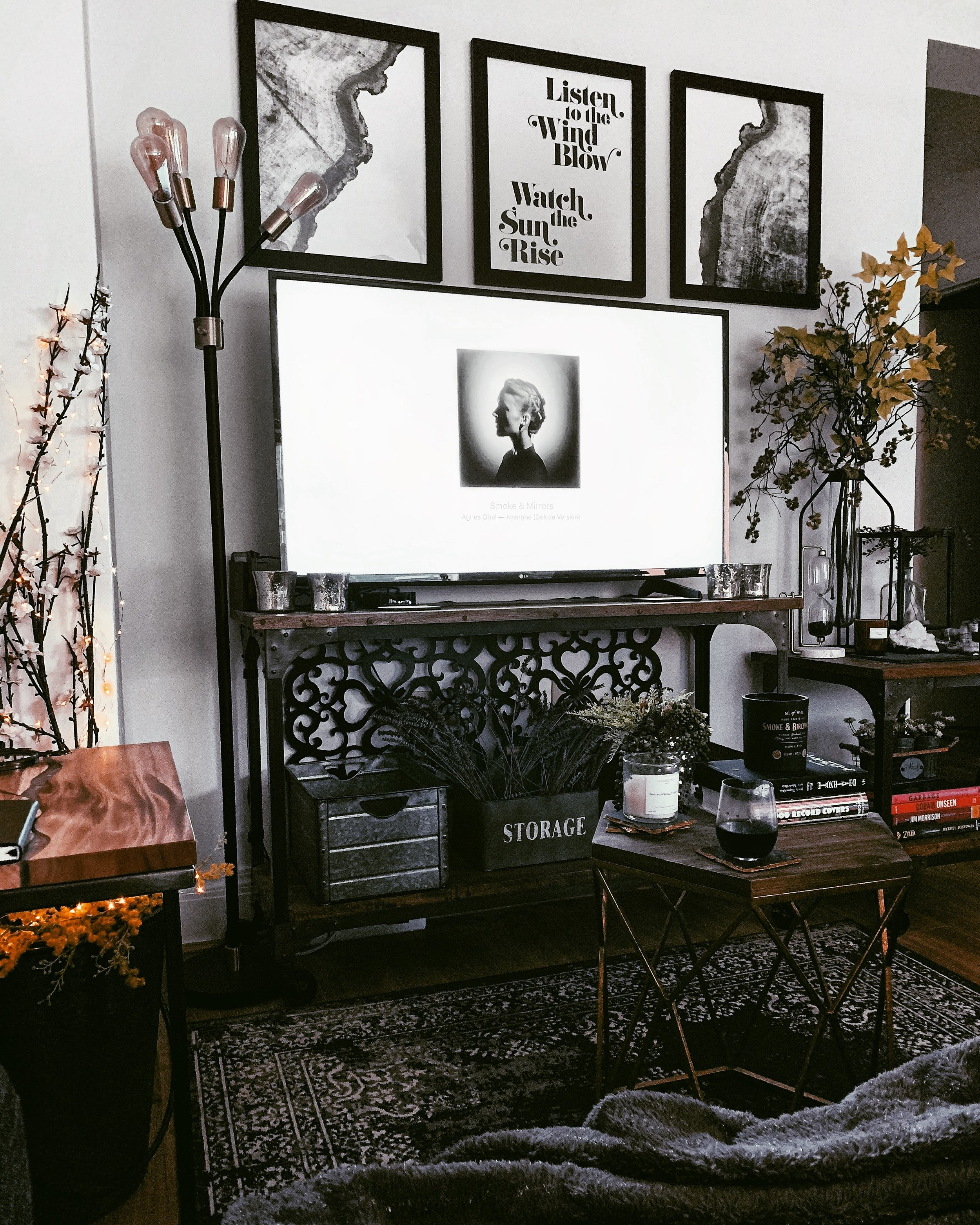 rustic living room decor with witch aesthetic