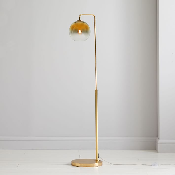 Sculptural Glass Globe Floor Lamp - West Elm