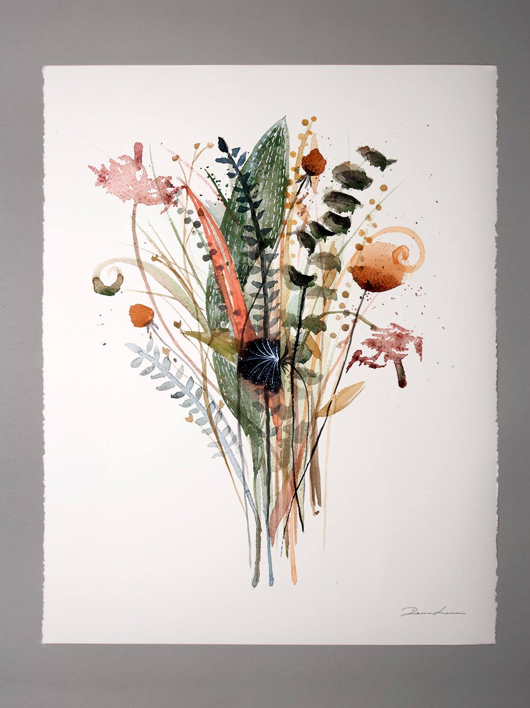 Watercolor Flowers by RomaLema - Etsy