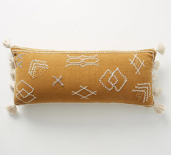 Embroidered Sadie Pillow by Joanna Gaines - Anthropologie