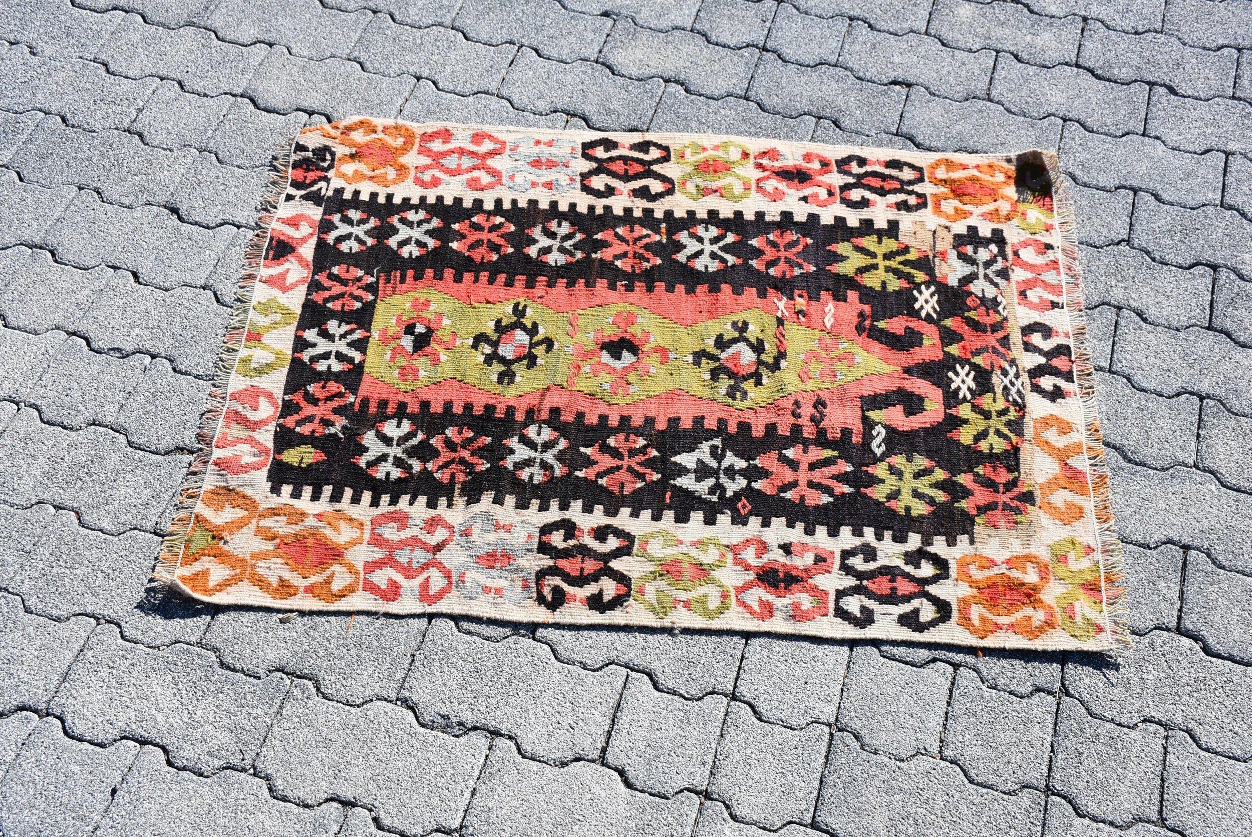 Vintage Small Size Kilim Rug by decolifeturkishrug - Etsy