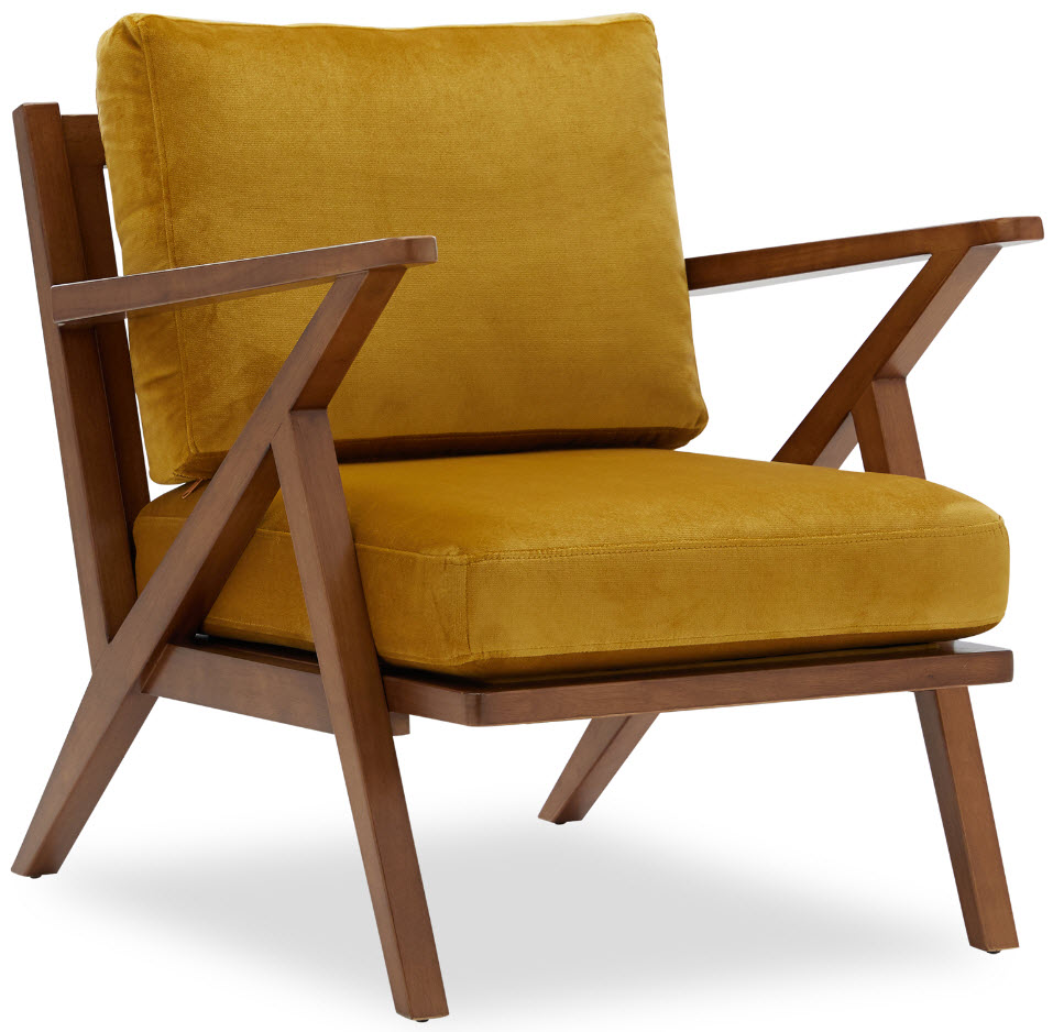 Velvet Mid-Century Accent Chair by Drew Barrymore Flower Home