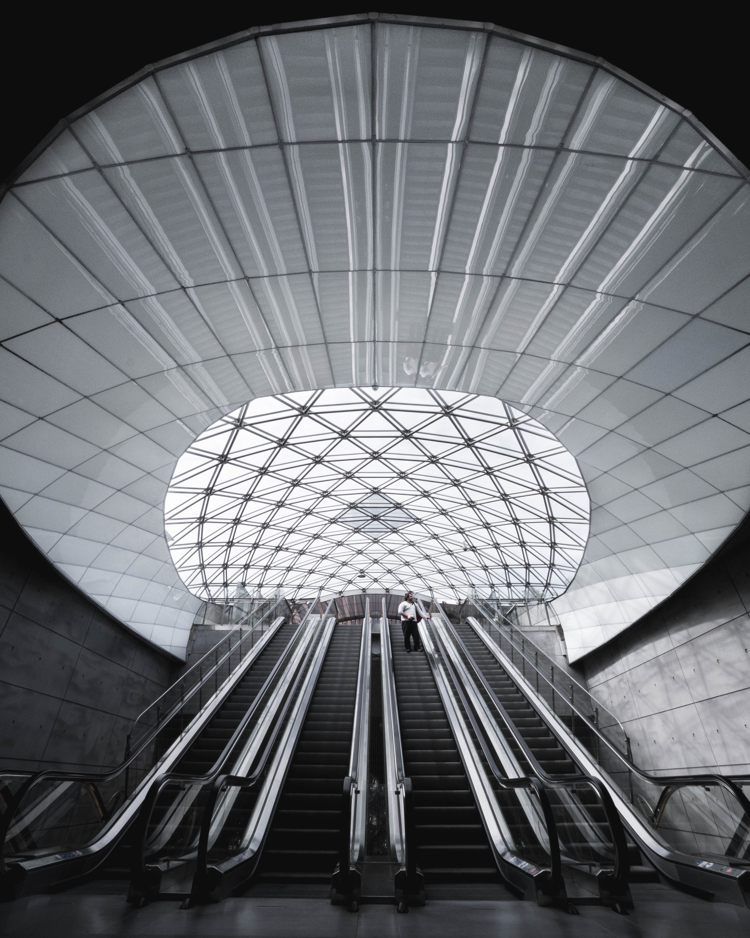 Subway Escalator Architecture Stairs Skylights