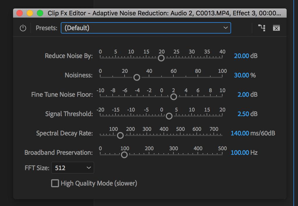 adaptive noise reduction adobe