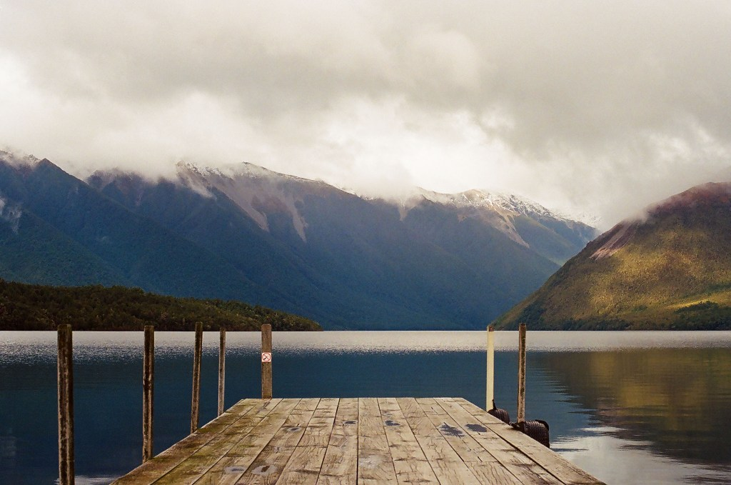 View off the Dock of Lake Rotoiti, New Zealand South Island