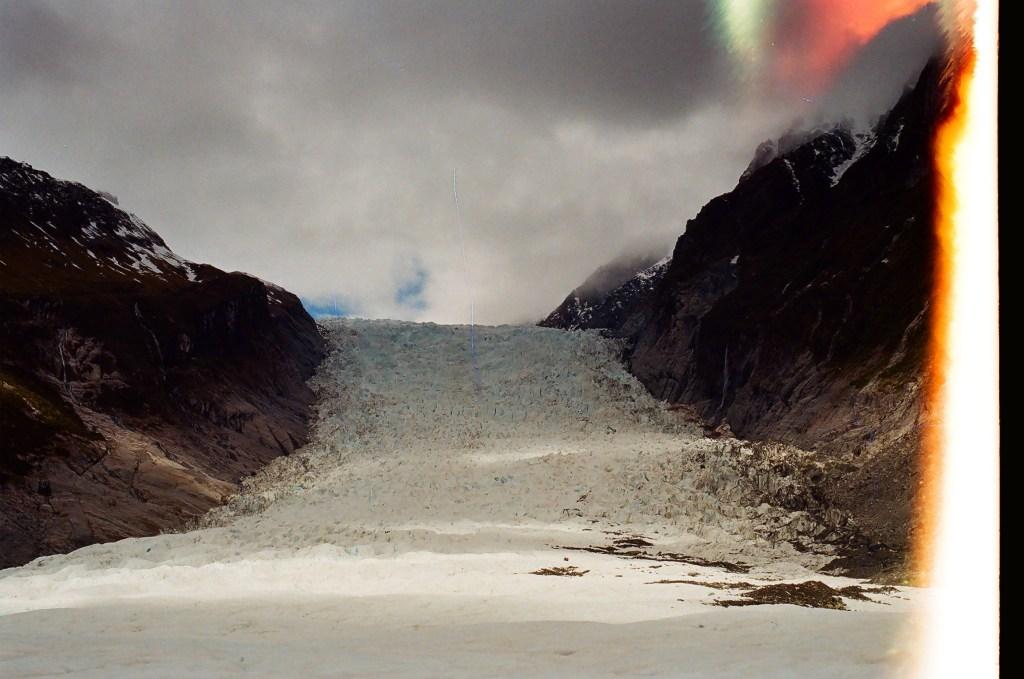 Light Leaked, Stretched, and Destroyed film, Franz Josef Glacier, New Zealand South Island