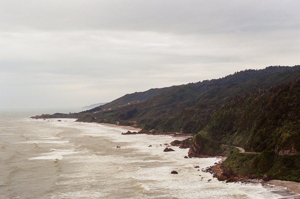 North Facing View from Punakaiki Pancake Rocks, New Zealand South Island