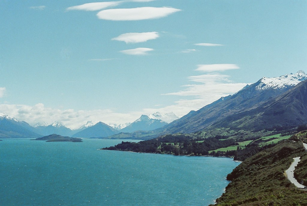 Road between Glenorchy and Queenstown, New Zealand South Island