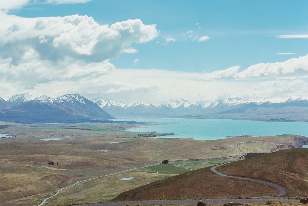 View from the Top of Mt John Observatory, New Zealand South Island