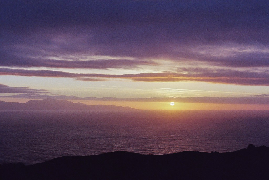 Purple Sunset from Bluff Hill Lookout, New Zealand South Island