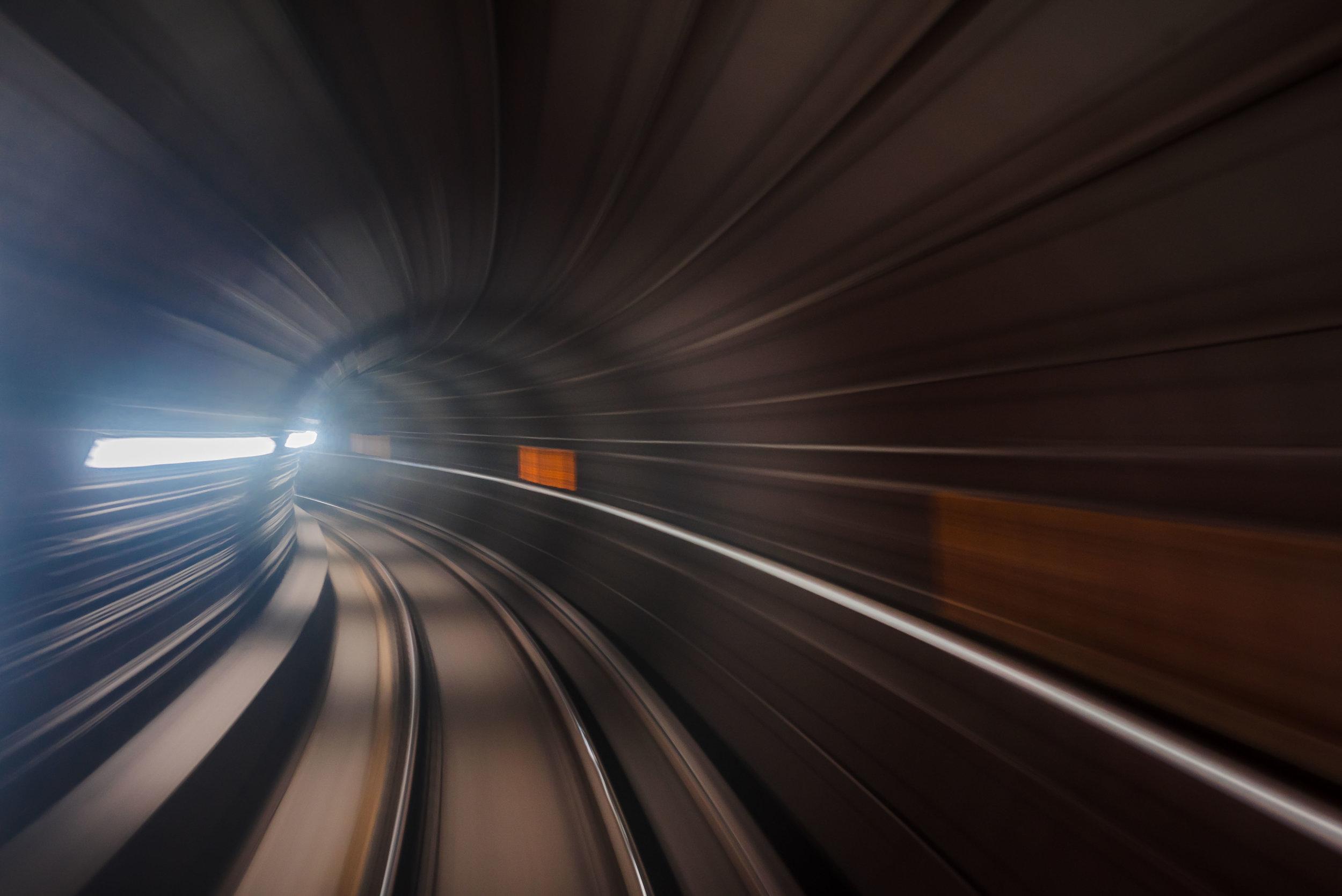 Washington DC Underground Tunnels Warp Speed