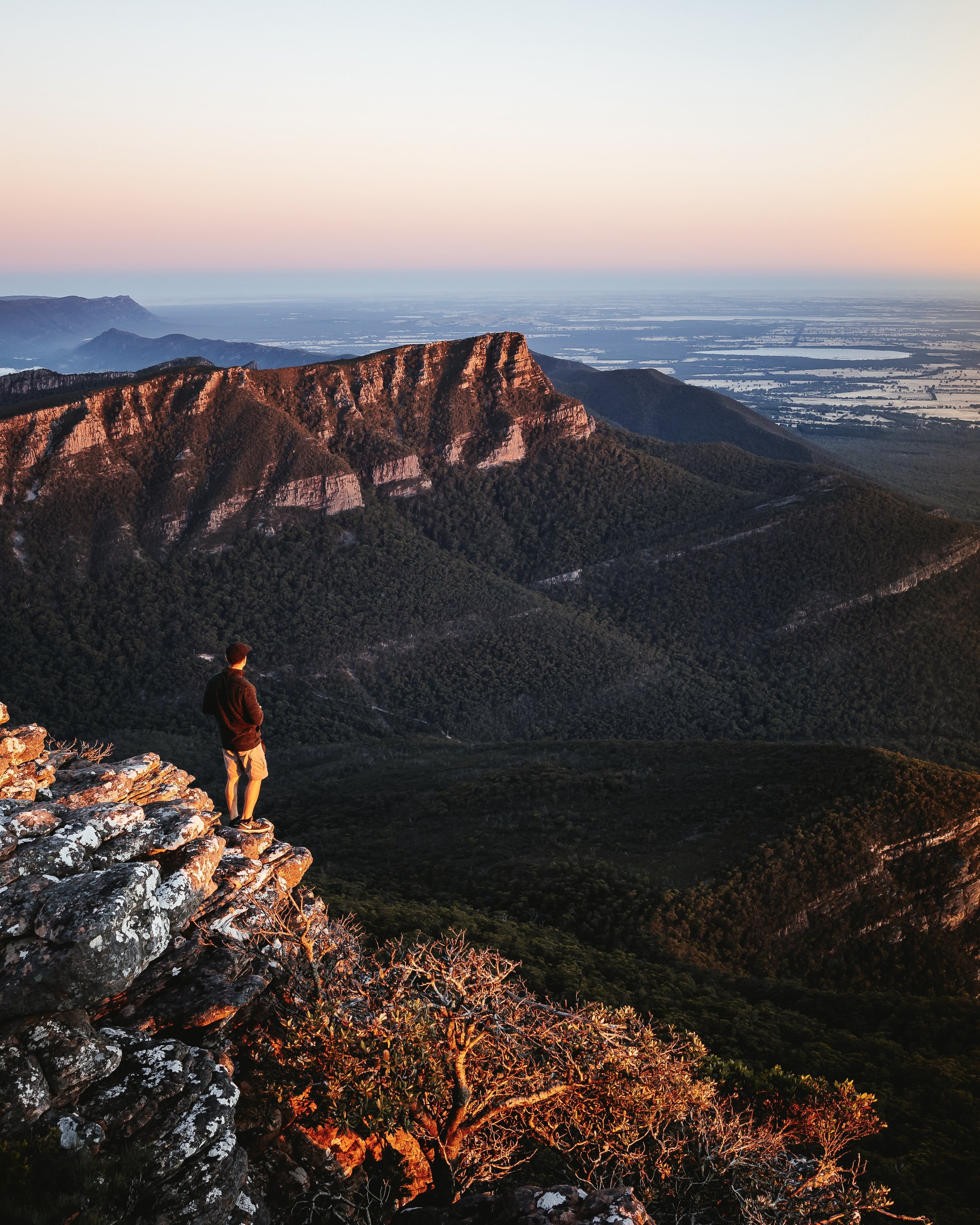 Grampians National Park Victoria Australia Sunset Mountains Rocks