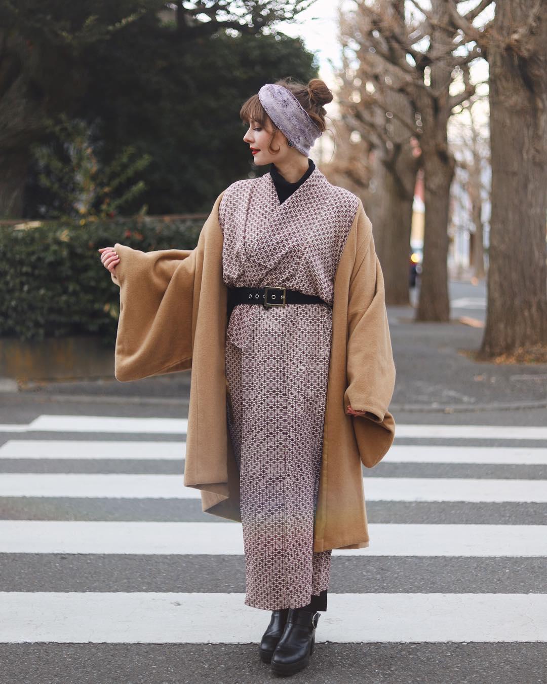 Stasia Motsumoto Kimono Daylight Street