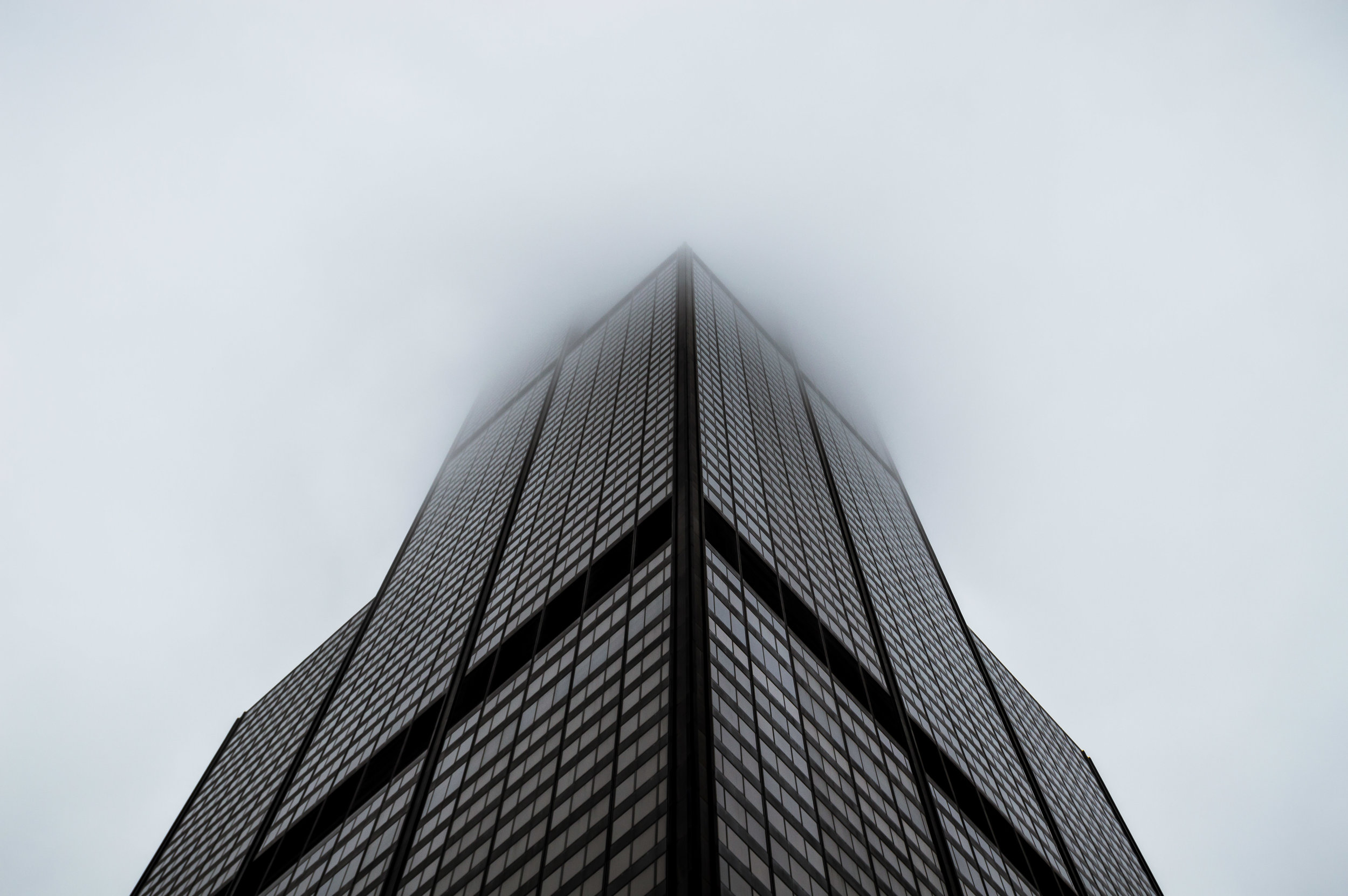 Chicago Willis Tower Sears Tower Cloudy Reflection City Illinois