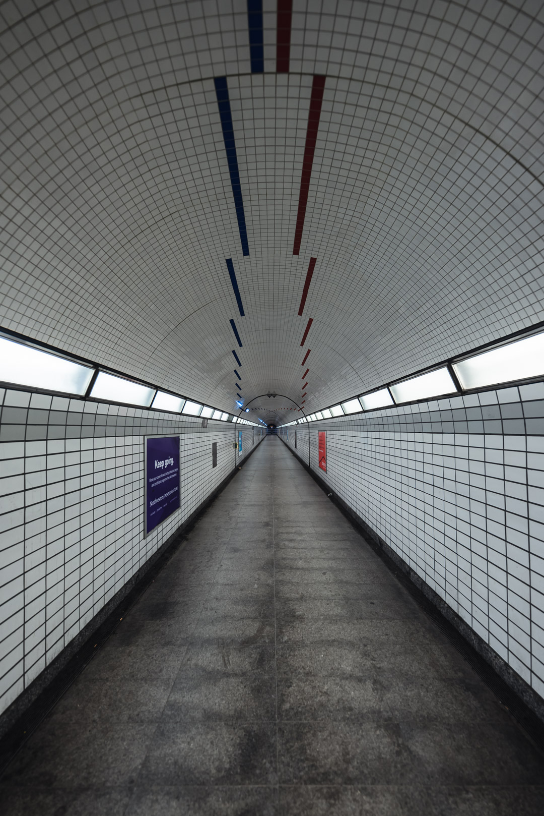 Chicago Red and Blue Line Pedestrian Tunnel CDOT City Illinois Subway