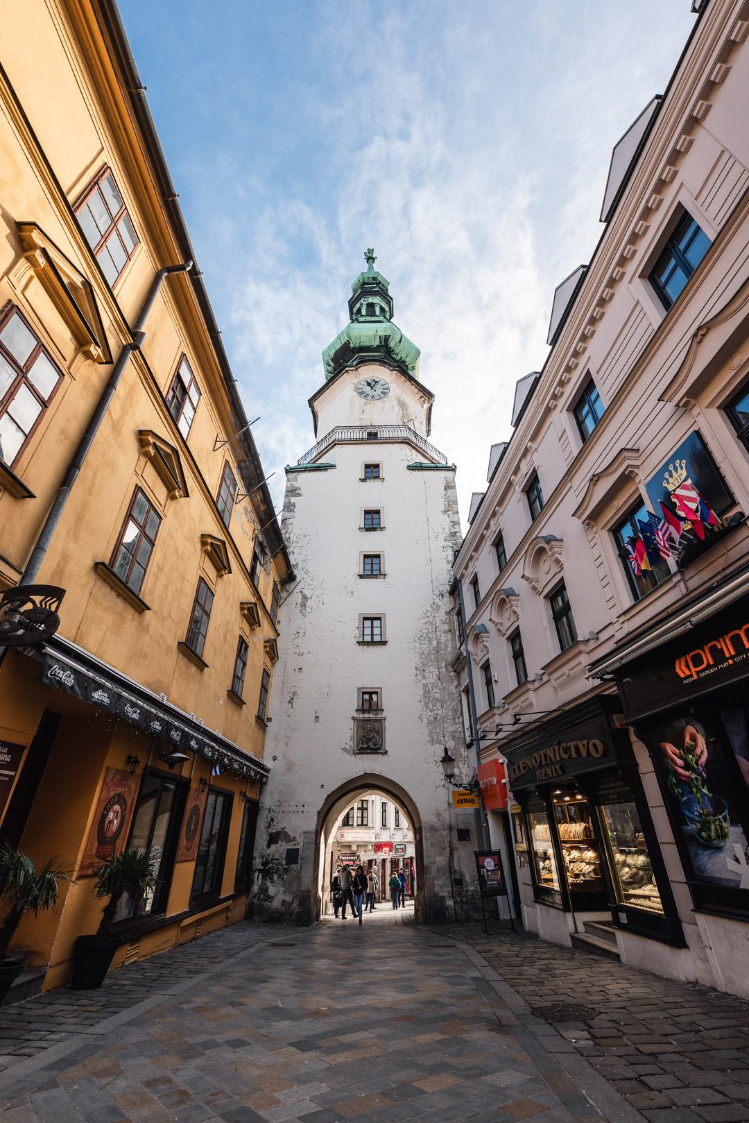 Michael's Gate Bratislava Slovakia Urban City Eastern Europe