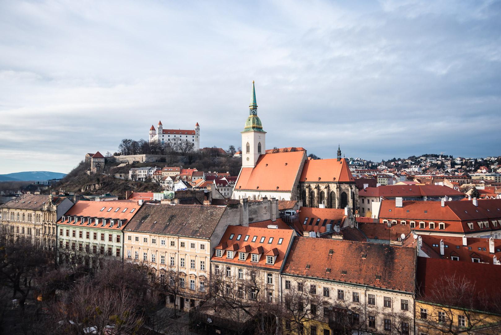 Bratislava Castle Saint Martin's Cathedral Gothic Bratislava Slovakia Urban City Eastern Europe