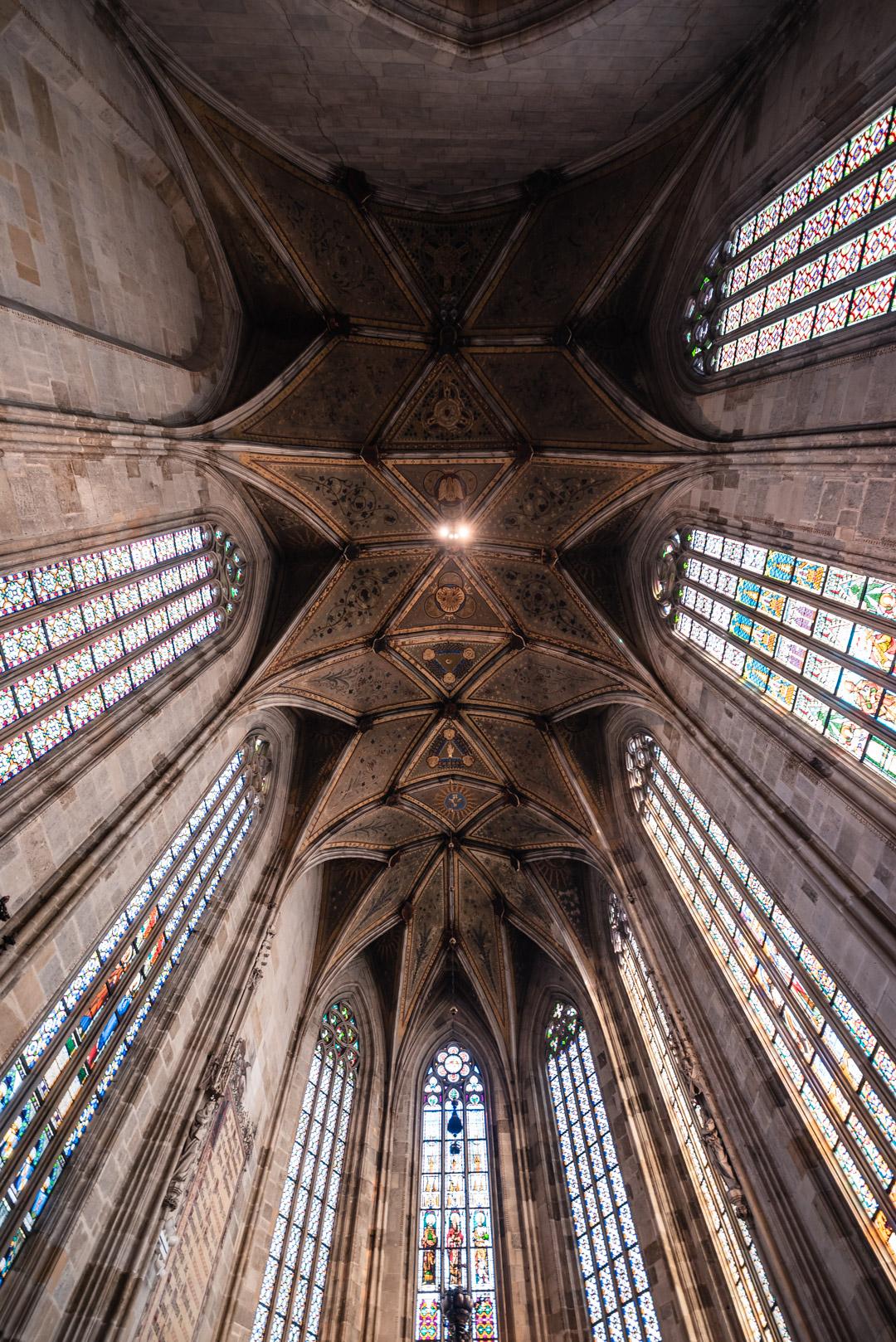 Interior Inside Saint Martin's Cathedral Gothic Stained Glass Windows Bratislava Slovakia Urban City Eastern Europe