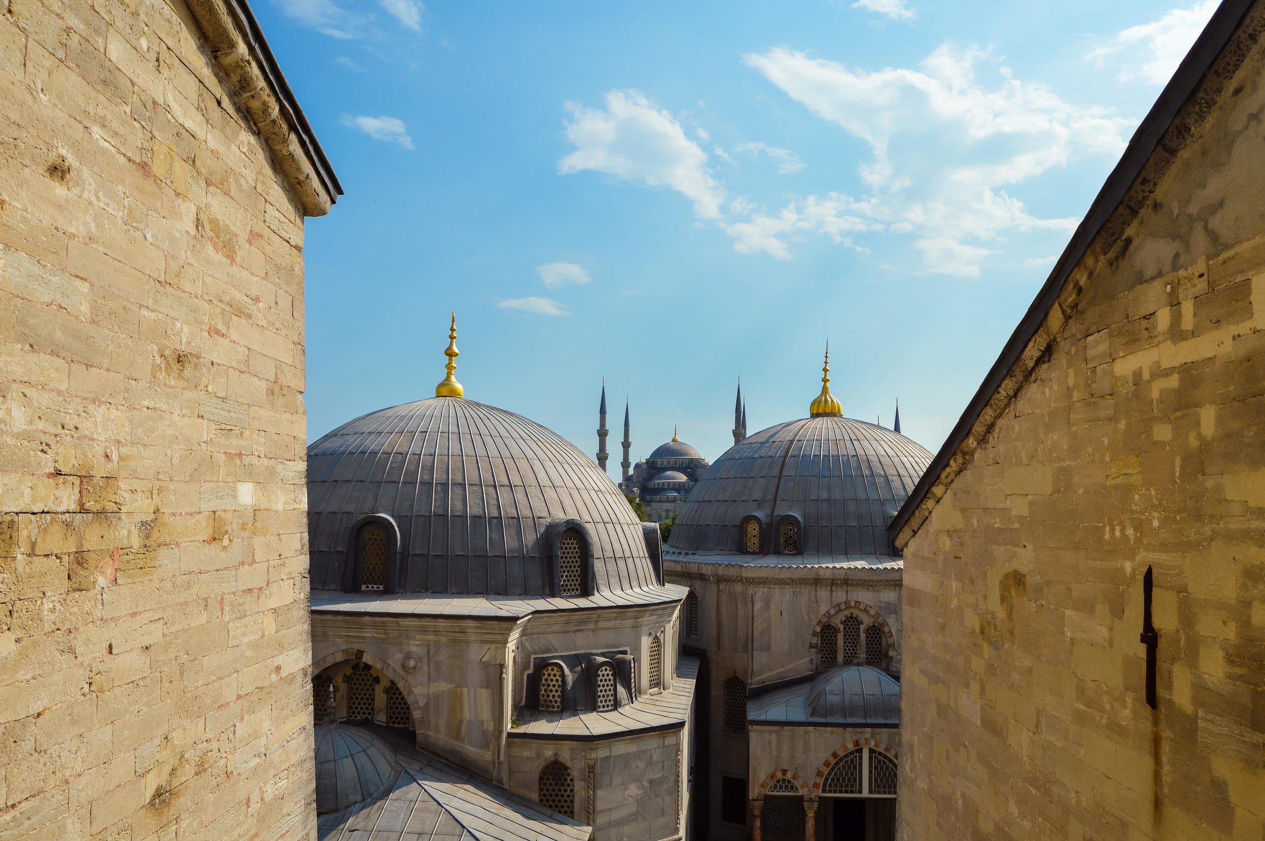 Blue Mosque Mosque Minaret Sunset Blue Sky Muslim Ottoman Empire Architecture Istanbul Turkey