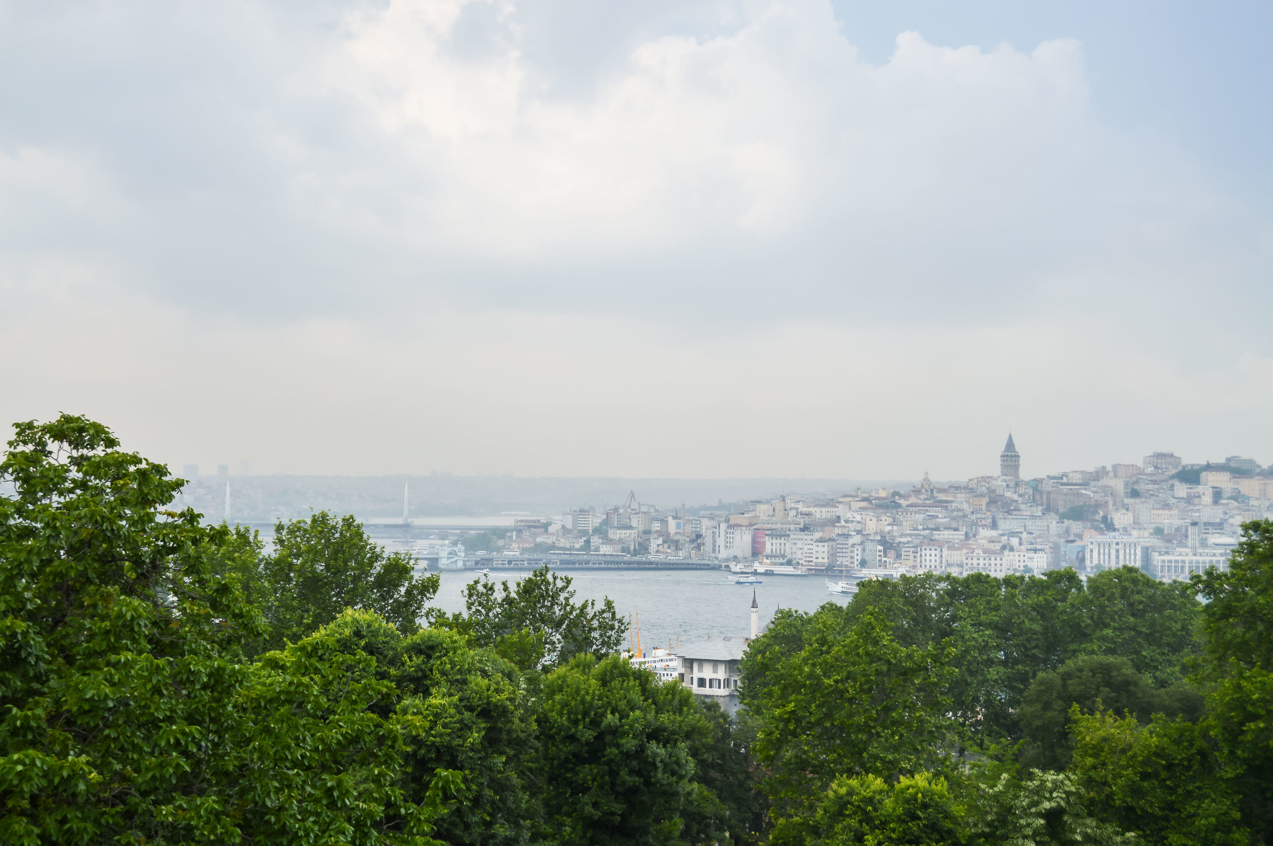 View Bosphorus Galata Tower Muslim Ottoman Empire Constantinople Architecture Istanbul Turkey