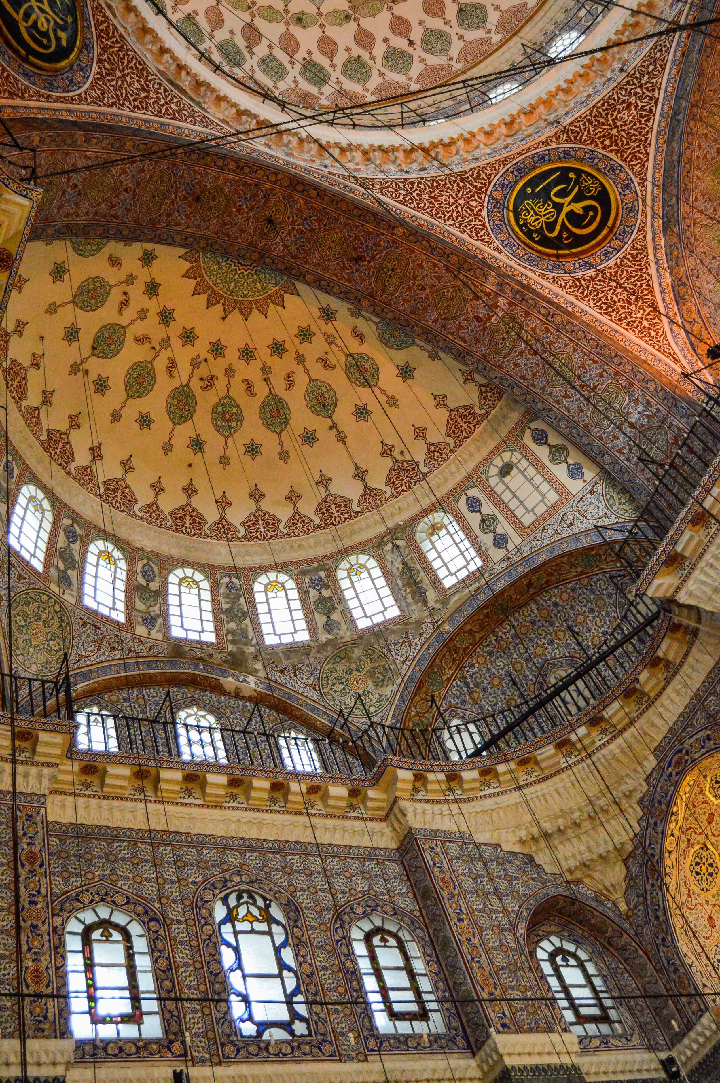 New Mosque Yeni Camii Muslim Ottoman Mosaic Tile Persian Empire Constantinople Architecture Istanbul Turkey