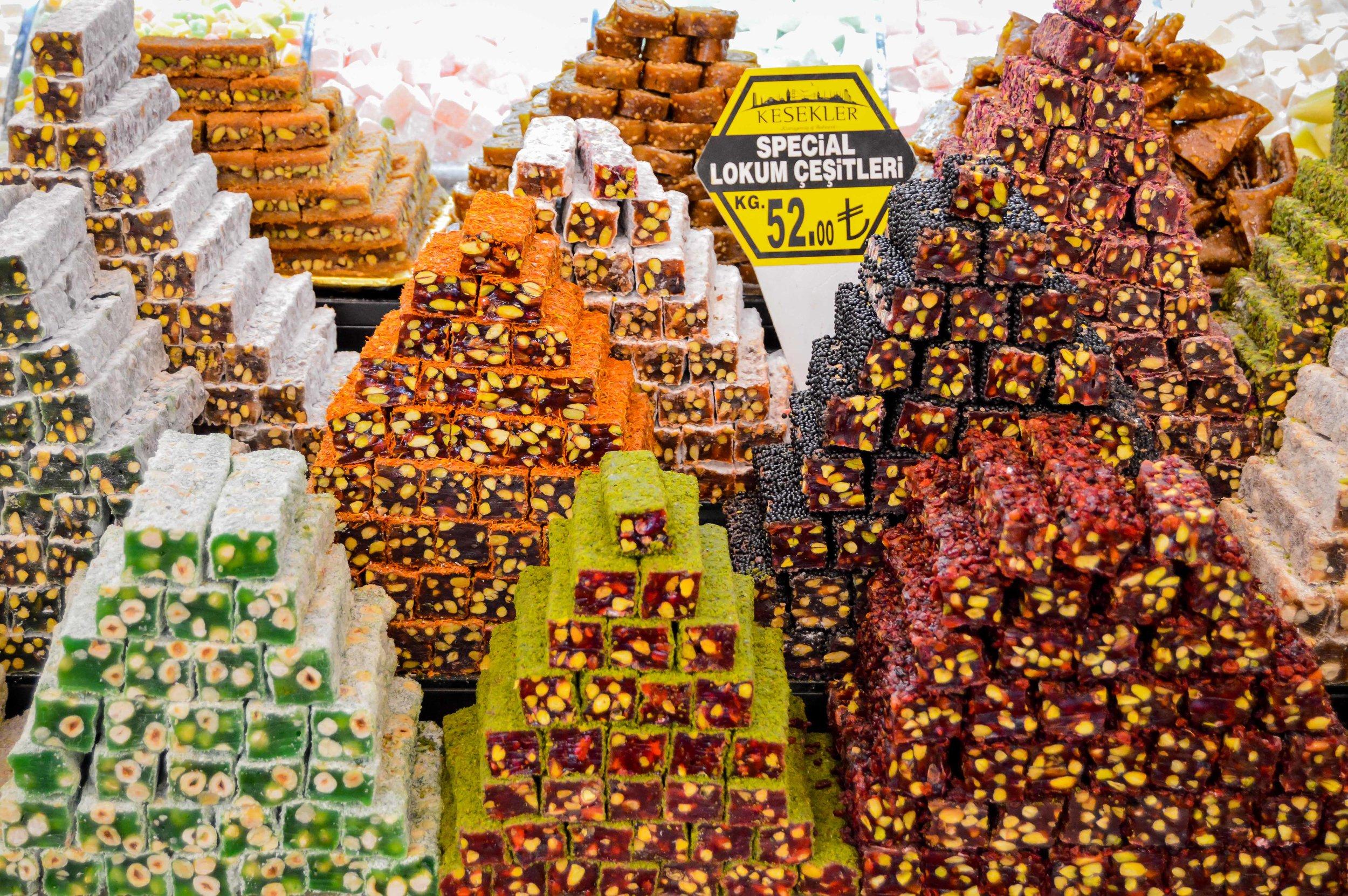 Turkish Delight Spice Bazaar Mısır Çarşısı Muslim Ottoman Persian Empire Constantinople Istanbul Turkey