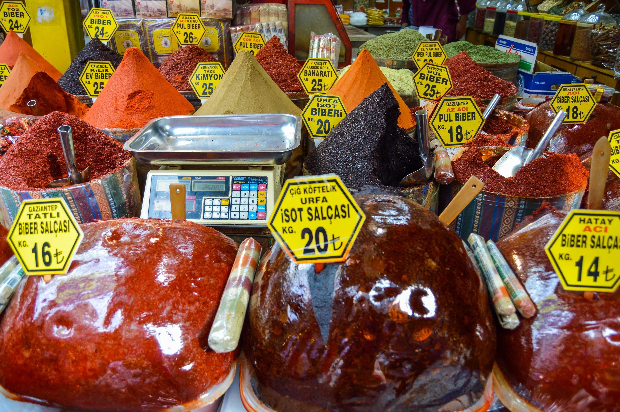 Spices Spice Bazaar Mısır Çarşısı Muslim Ottoman Persian Empire Constantinople Istanbul Turkey