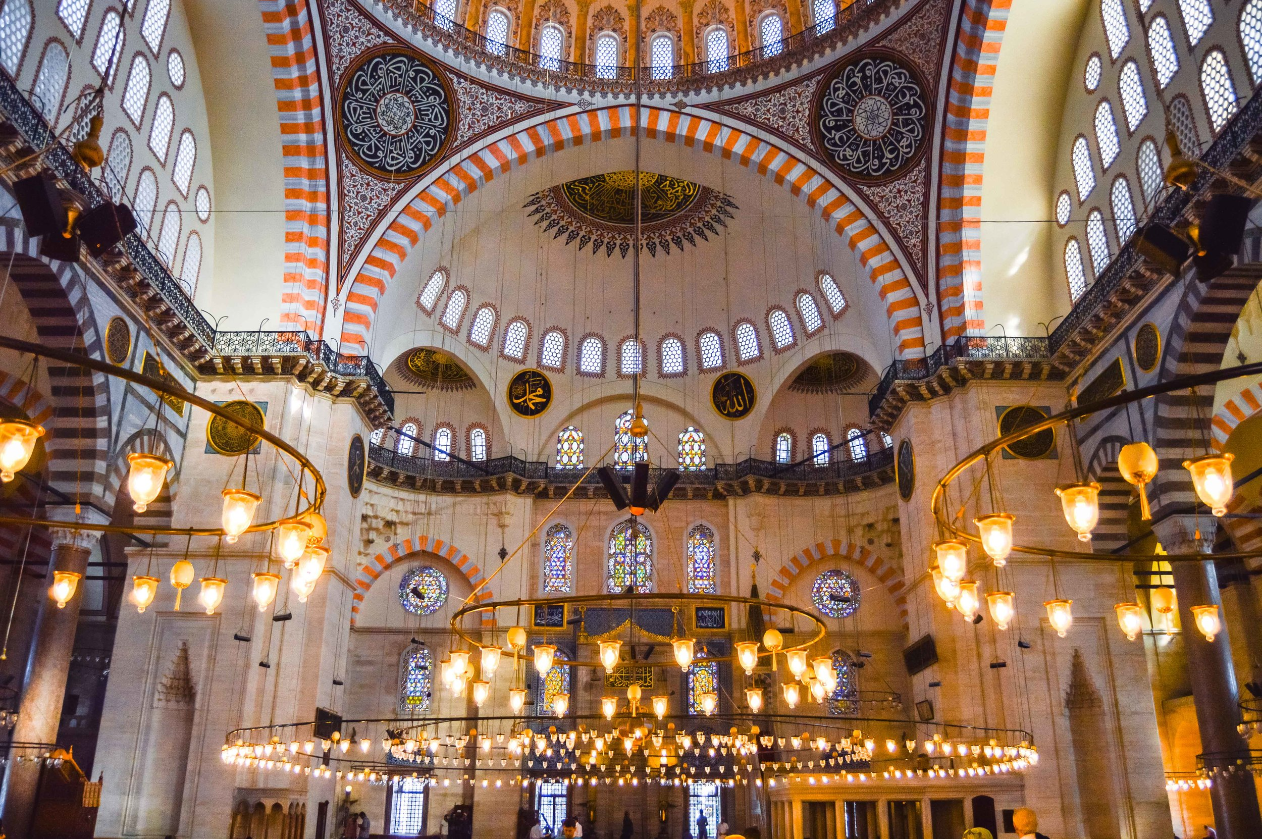 Süleymaniye Mosque Muslim Ottoman Mosaic Tile Persian Empire Constantinople Architecture Istanbul Turkey