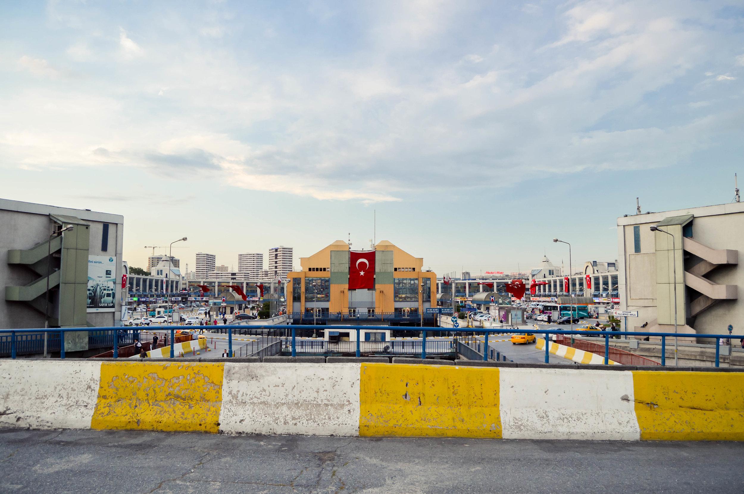 Esenler Otogarı Istanbul Bus Terminal Mosques Skyline Blue Sky Muslim Ottoman Empire Architecture Istanbul Turkey