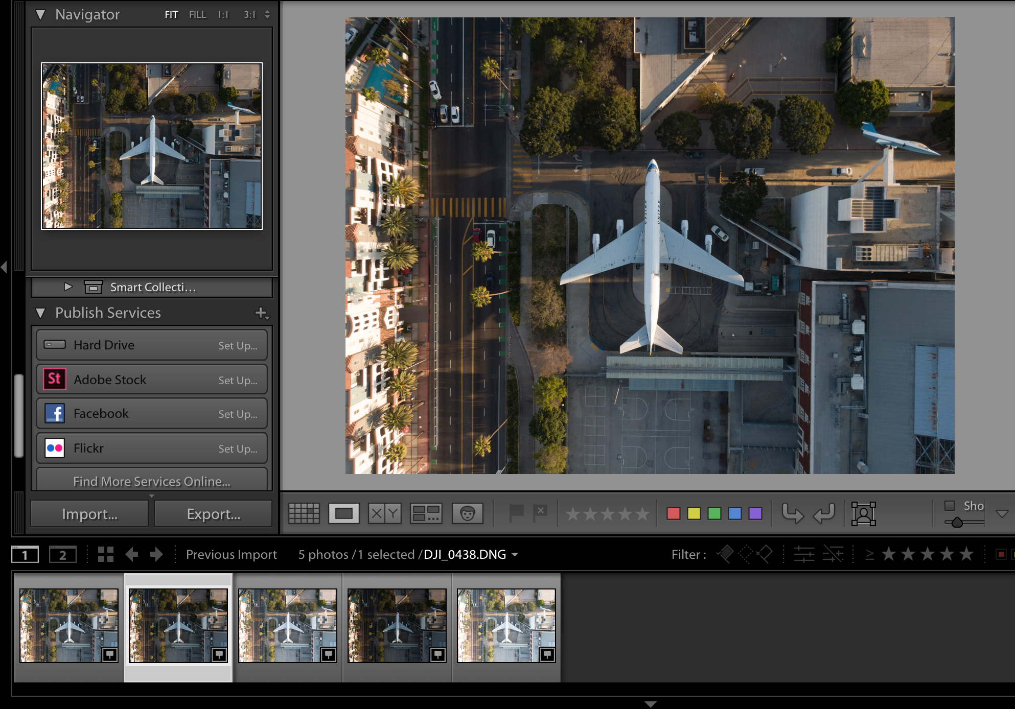 Take AEB 5 Photos of Subject - Import to Lightroom Module