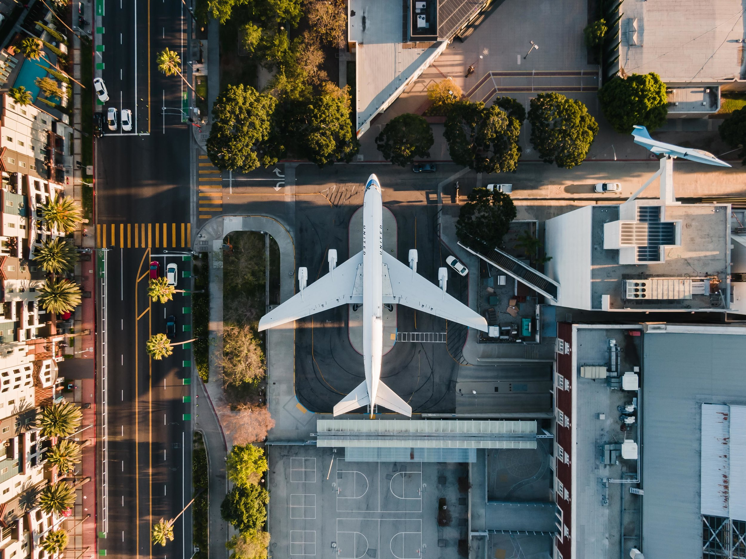 LIGHTROOM EDITS Airplane Los Angeles United Topdown Palm Trees