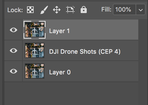Press Command + Option + Shift + E  create new layer from all layers