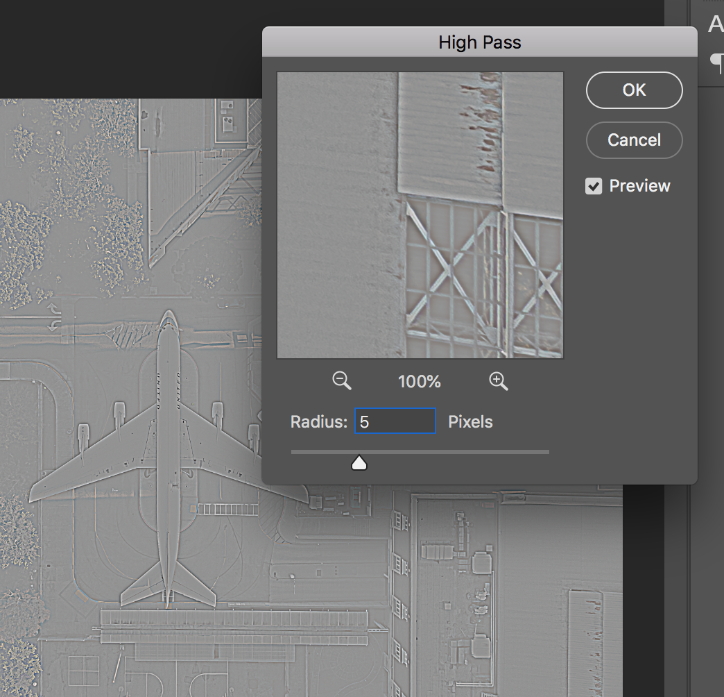High Pass Filter Layer in Photoshop