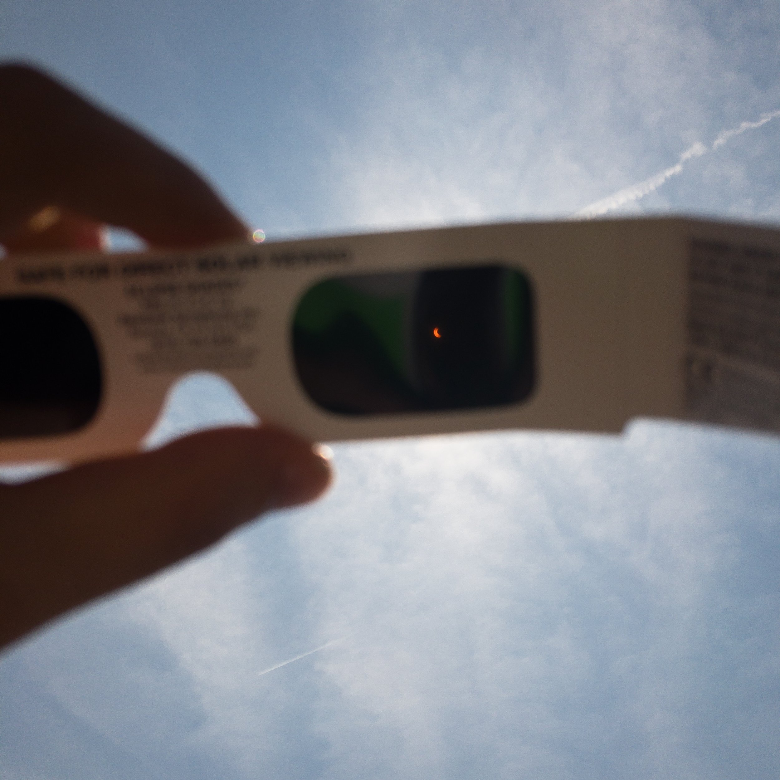 Solar Eclipse Through Solar Eclipse Glasses