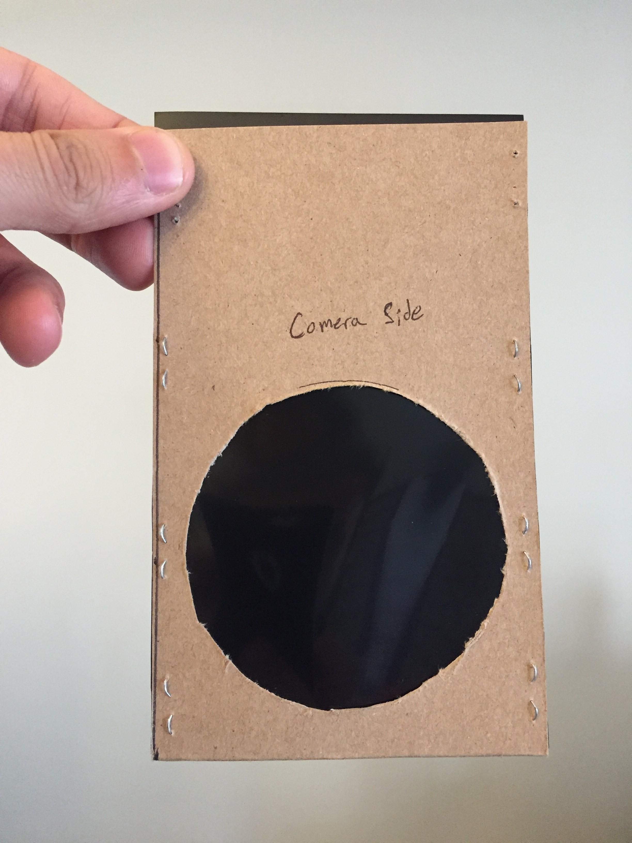 DIY Make Your Own Solar Filter Camera Side