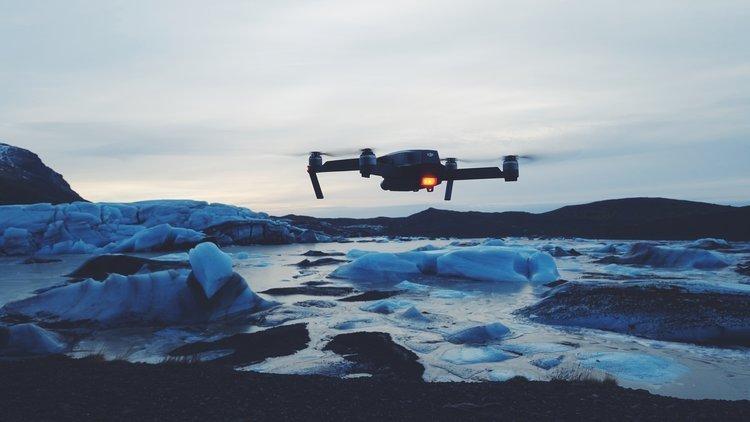 DJI Mavic Pro 2 Zoom Ice Aerials Flight