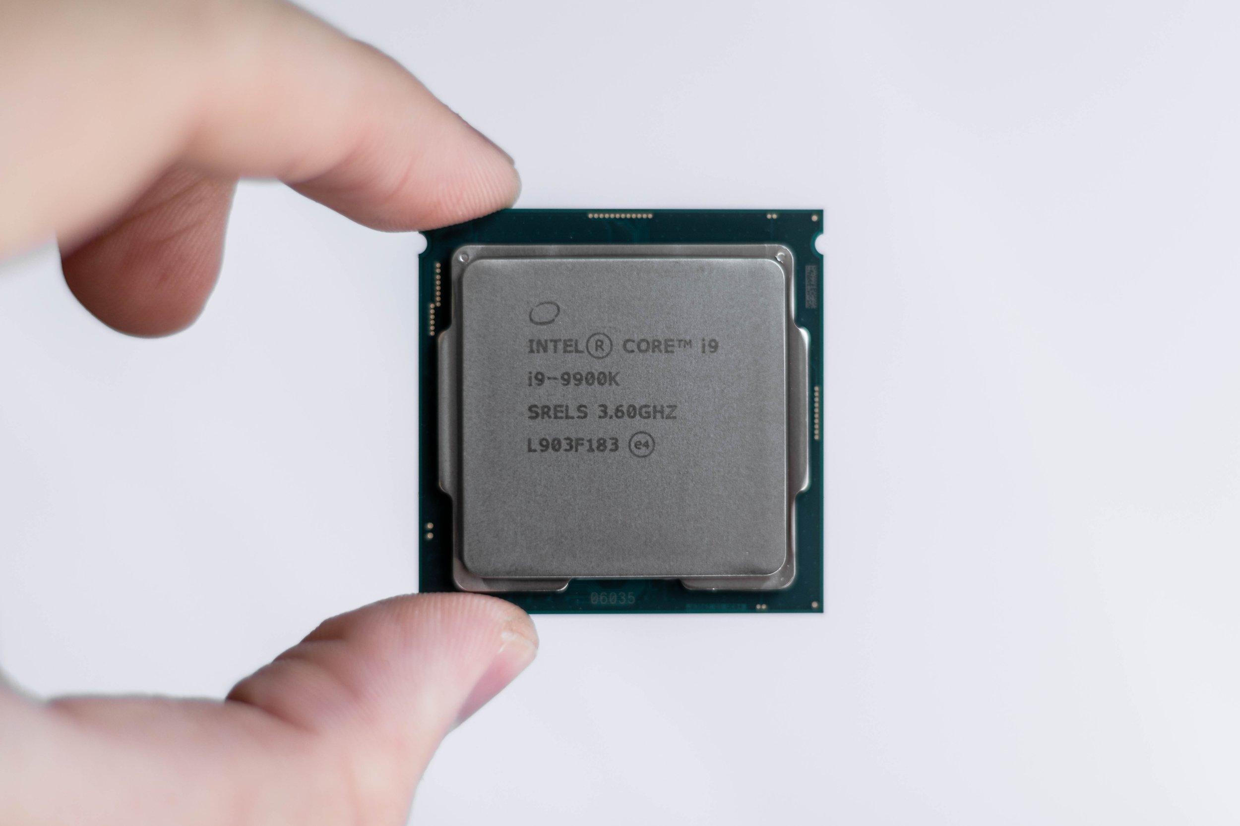 Intel i9 9900k CPU Processor in Hands