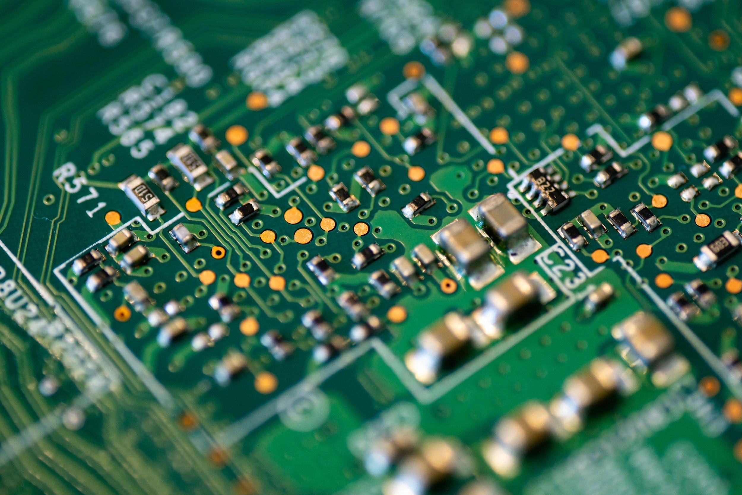 Motherboard Closeup Macro shot