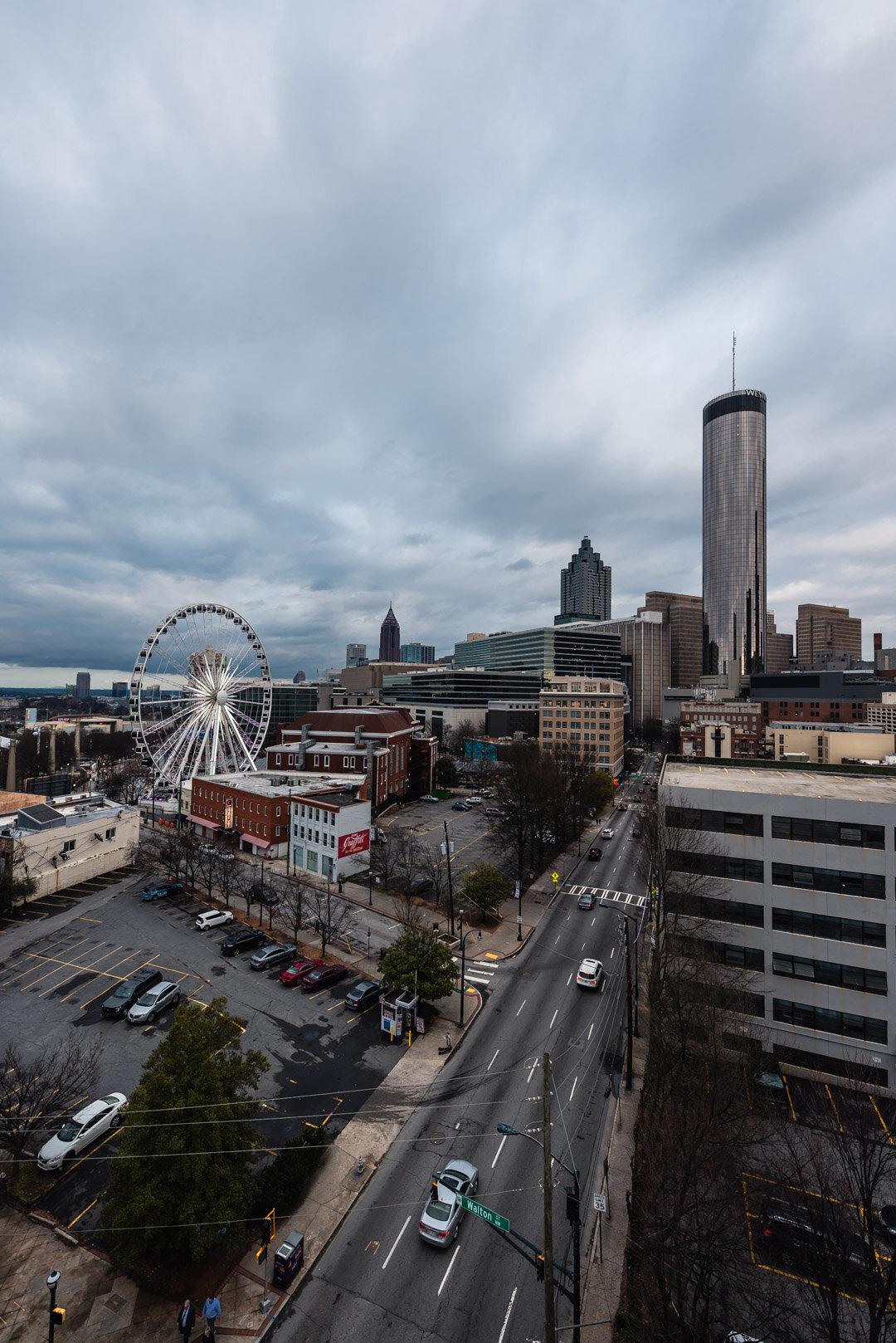 Centennial Olympic Park Parking Garage Atlanta Overcast