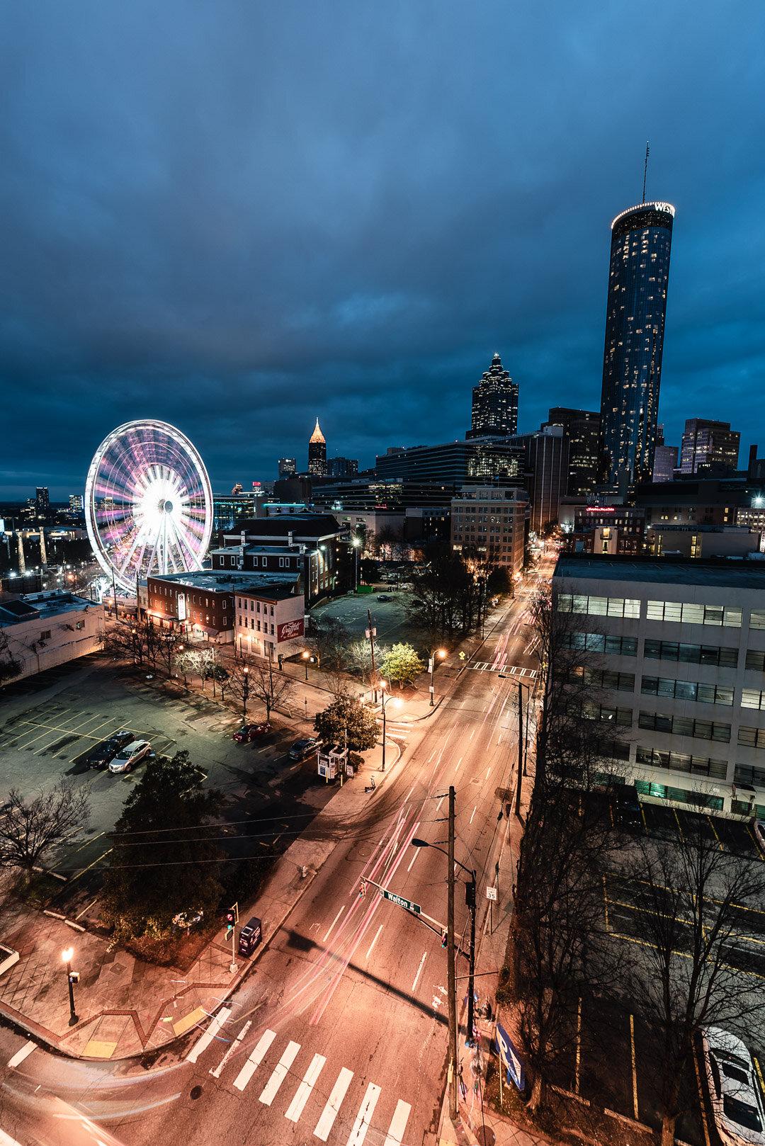 Centennial Olympic Park Parking Garage Atlanta Blue Hour