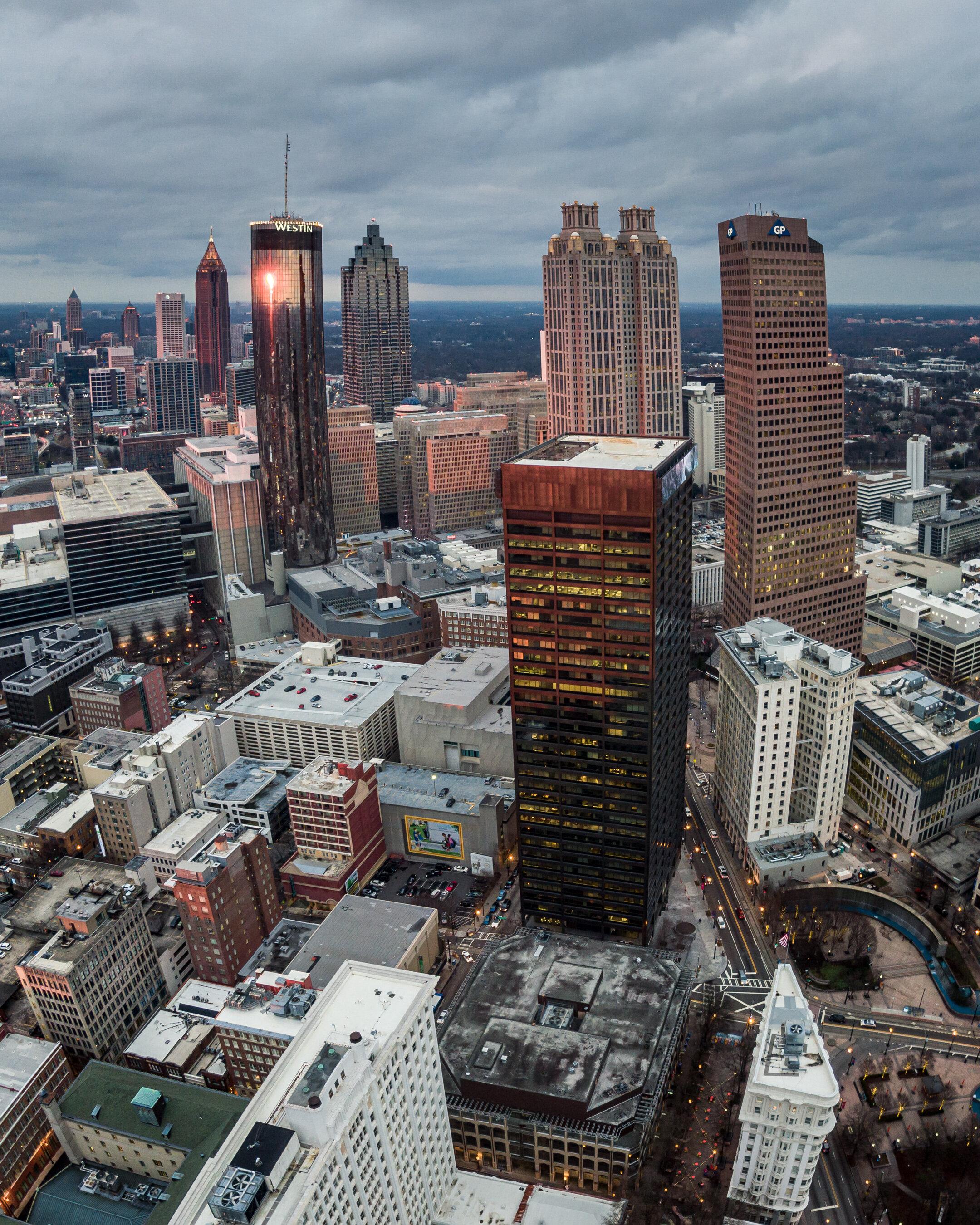 Aerial Atlanta Skyline SunTrust Bank of America