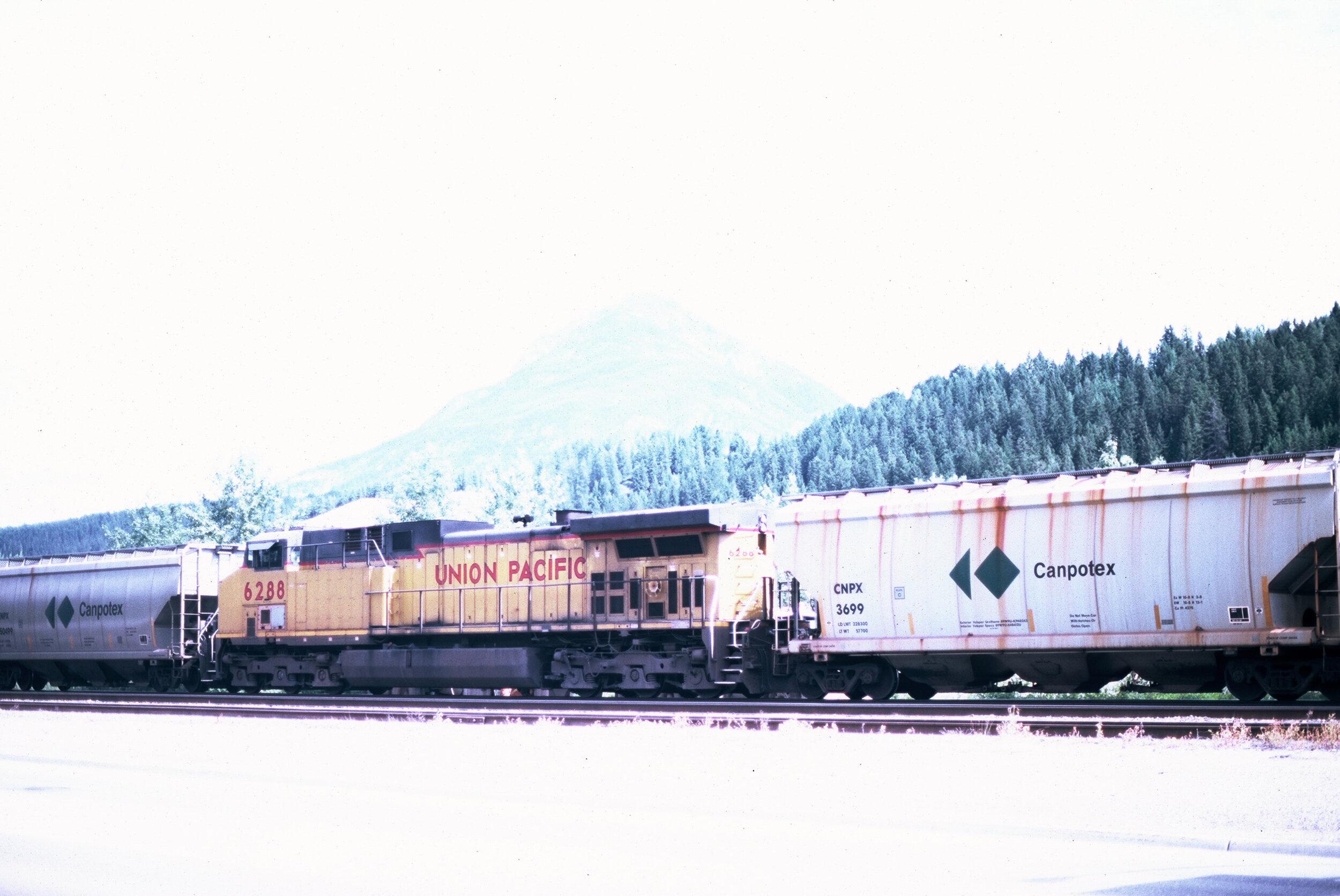 Canadian Rockies Banff Jasper Alberta Mountains 35mm SLR Canon A1 Sample Provia 100f Film Golden Union Pacific