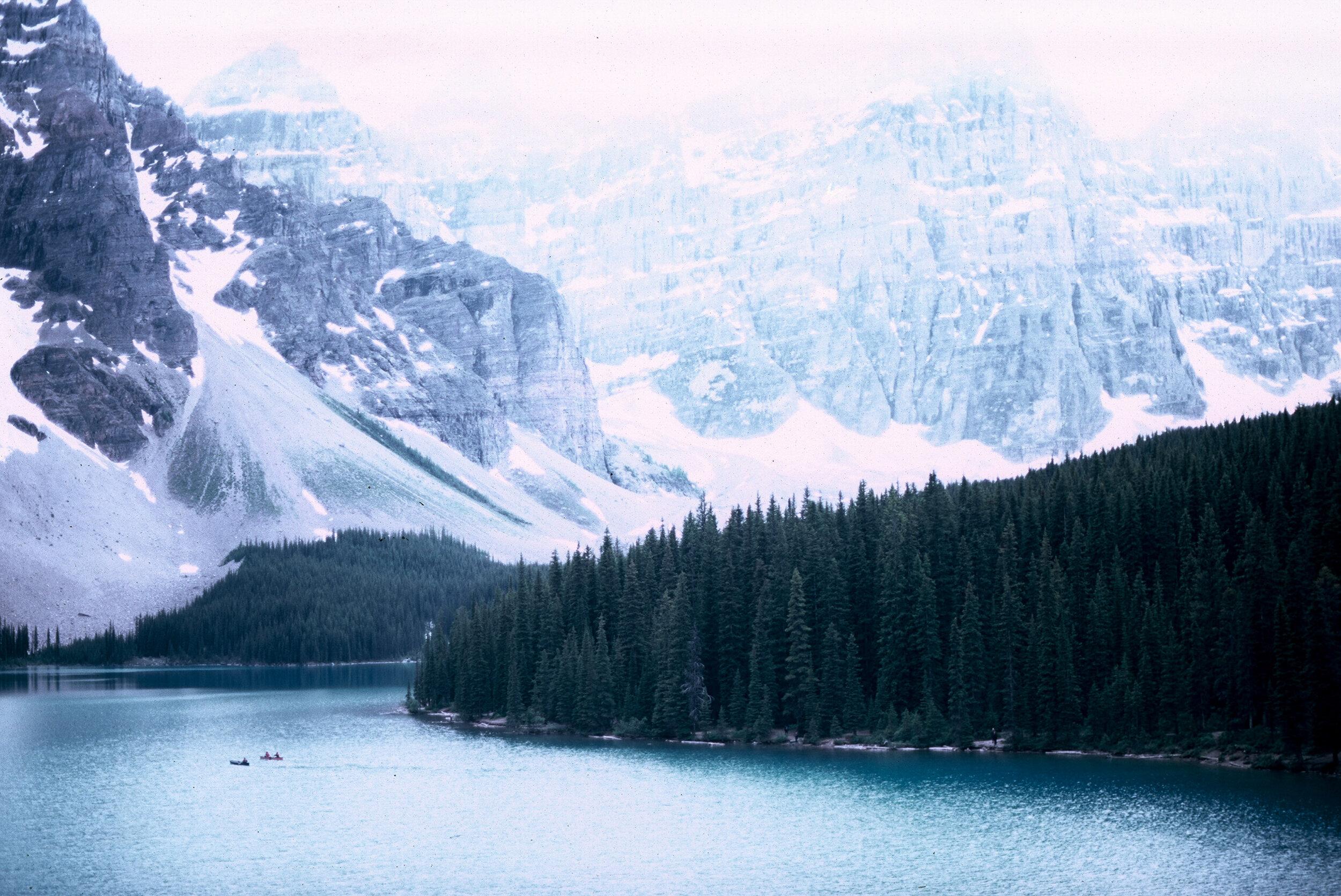 Canadian Rockies Banff Jasper Alberta Mountains 35mm SLR Canon A1 Sample Provia 100f Film Lake Moraine