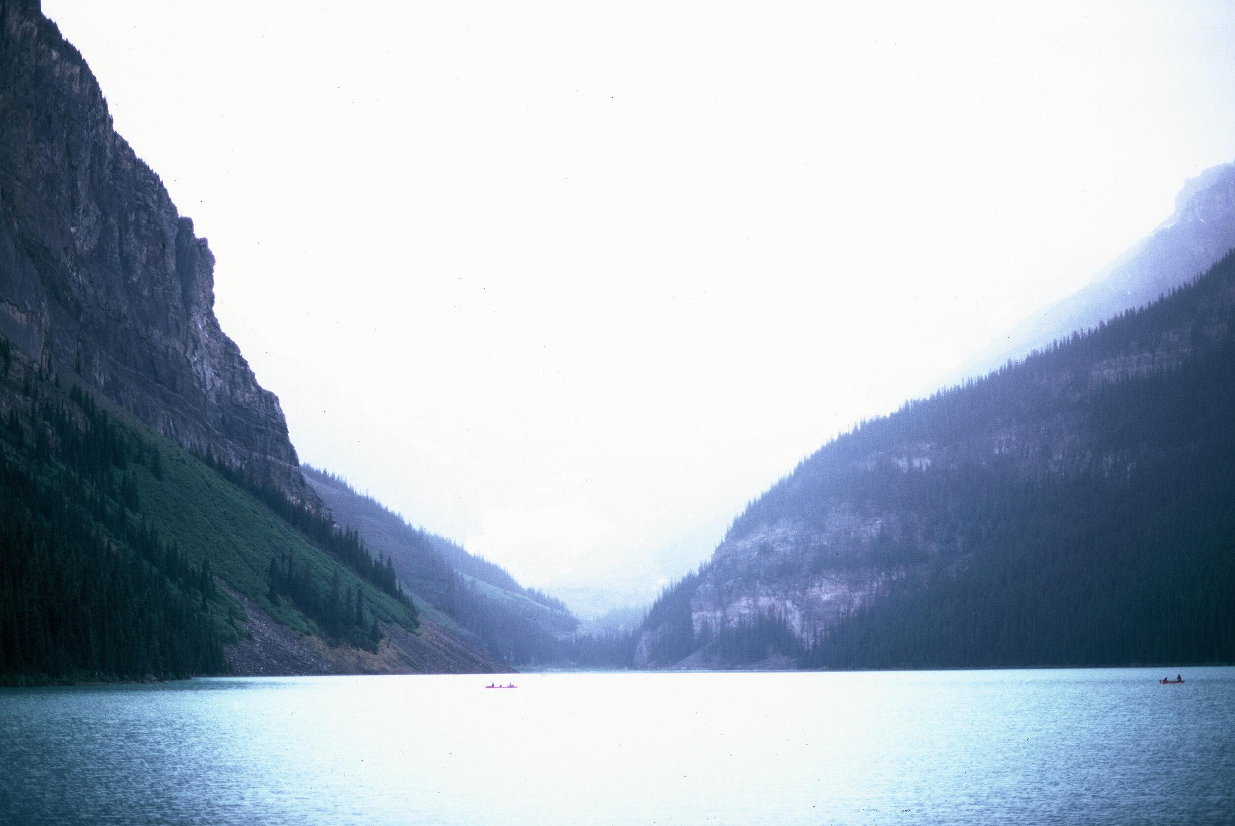 Canadian Rockies Banff Jasper Alberta Mountains 35mm SLR Canon A1 Sample Provia 100f Film Lake Louise