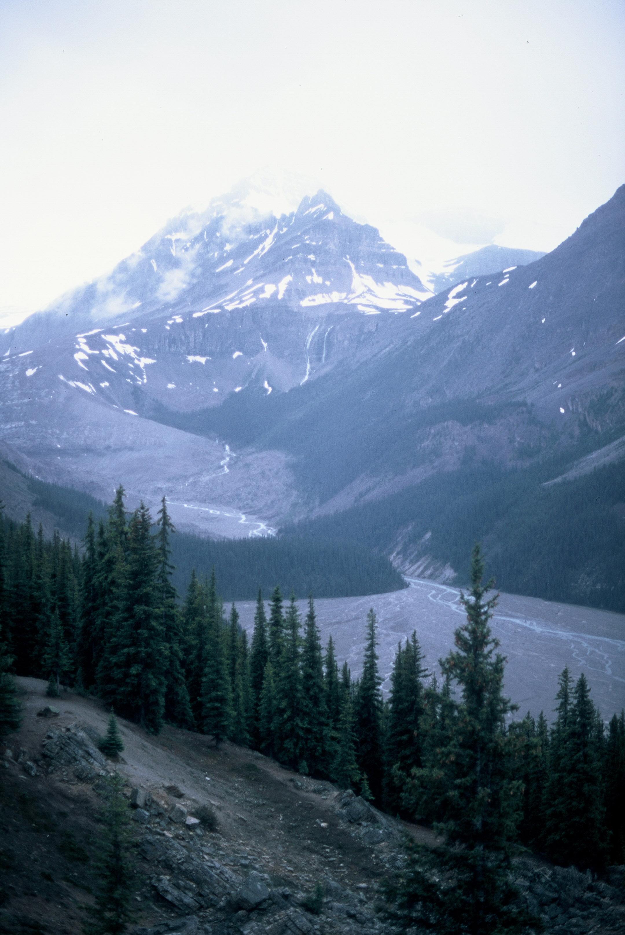 Canadian Rockies Banff Jasper Alberta Mountains 35mm SLR Canon A1 Sample Provia 100f Film Peyto Lake