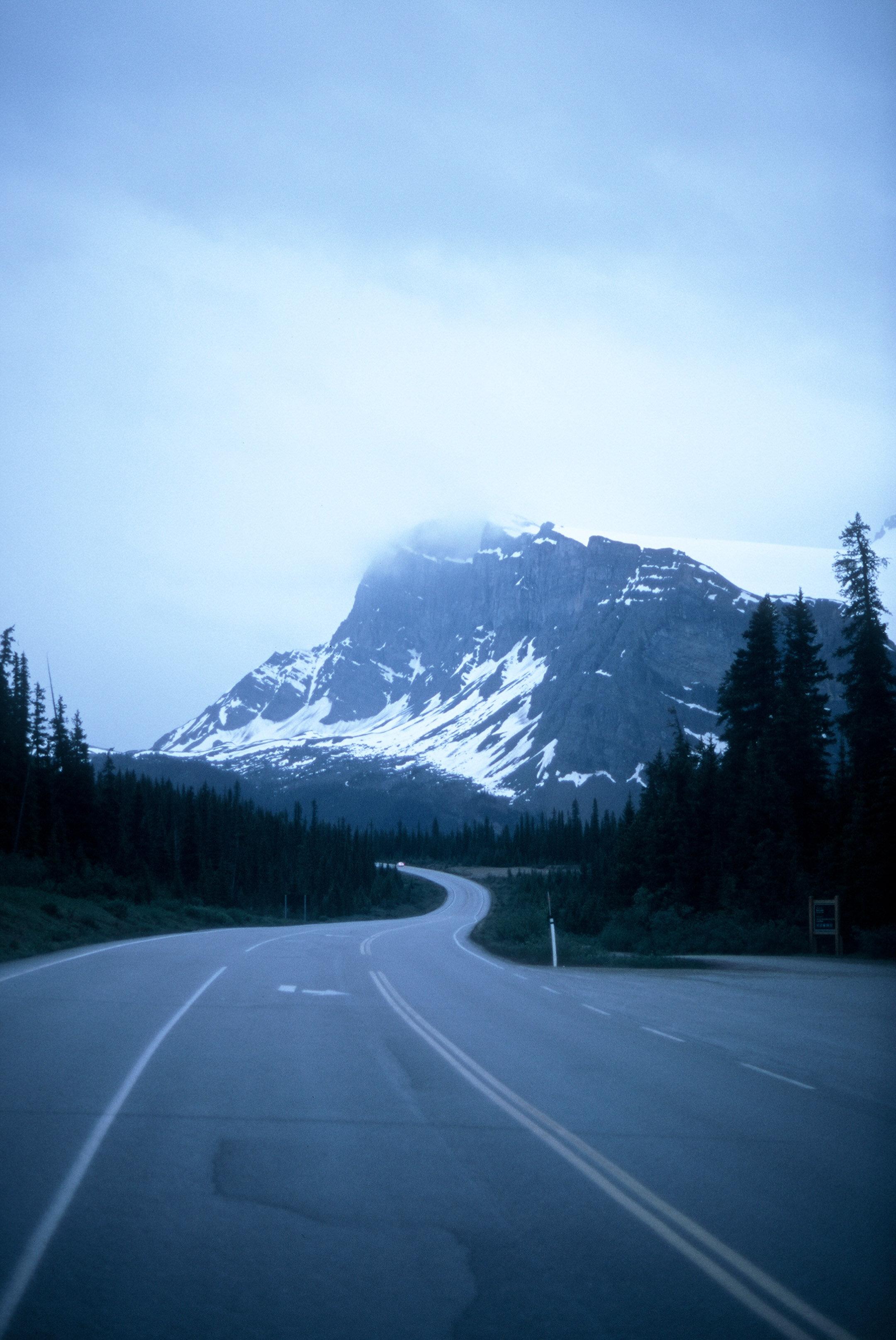 Canadian Rockies Banff Jasper Alberta Mountains 35mm SLR Canon A1 Sample Provia 100f Film Icefields Parkway